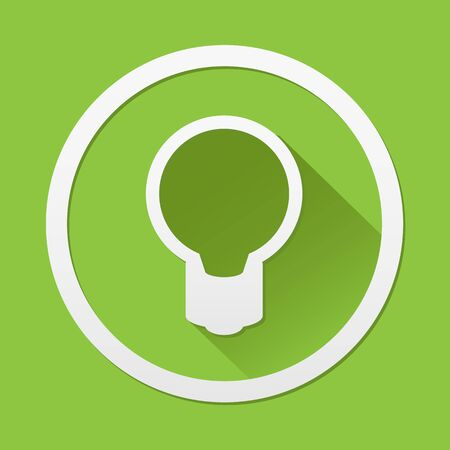 green bulb: Green bulb icon great for any use.  Illustration