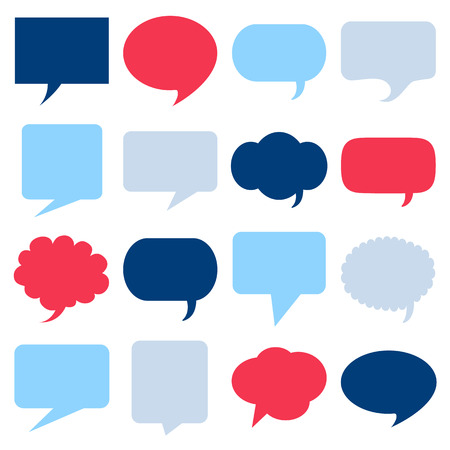 message bubble: Blank empty speech bubbles icons set great for any use.
