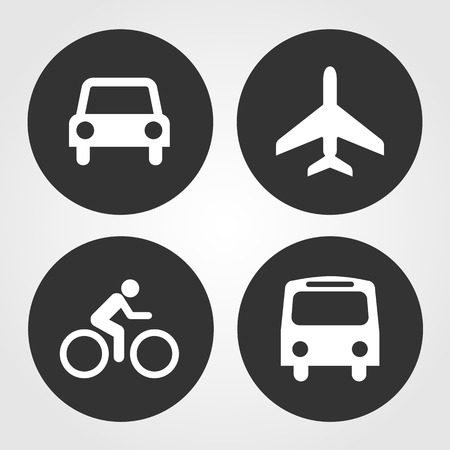 Transportation icons set great for any use.  Vector