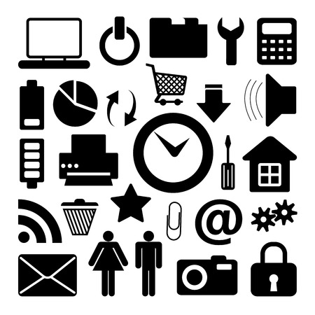 adress: Website icons set great for any use.  Illustration
