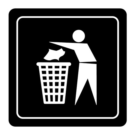 Trash bin or trash can icon great for any use.