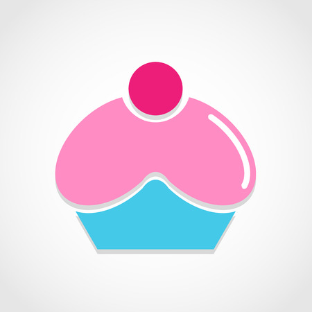 Cupcake icon great for any use. Vector