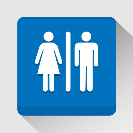 stick figure: Toilet icon great for any use.