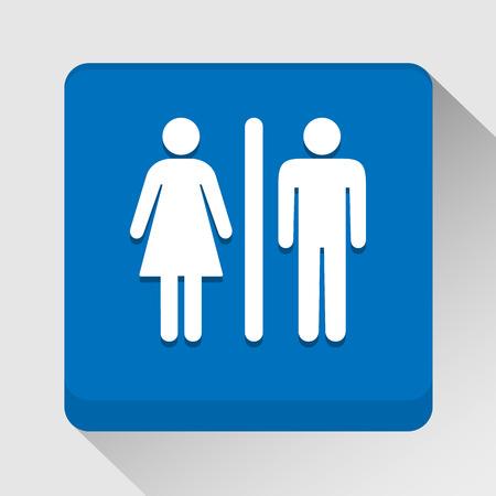 silhouette femme: Toilettes ic�ne id�al pour toute utilisation.