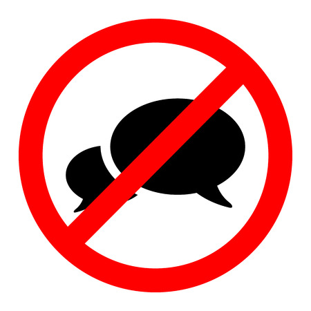 no person: No talk icon great for any use.