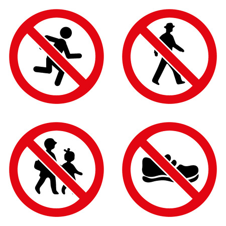 prohibition signs: Prohibition signs icon great for any use.