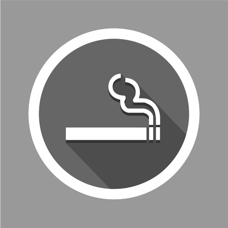 abstain: Smoke icon great for any use.