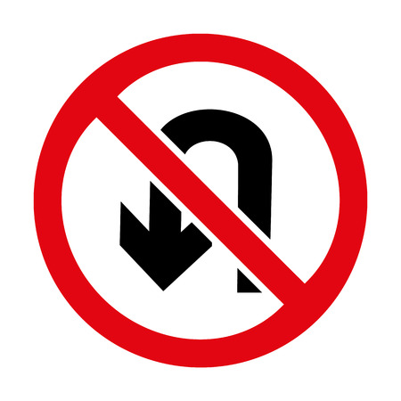 u turn: No U-turn icon great for any use.
