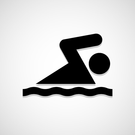 pool player: Swimming icon great for any use.