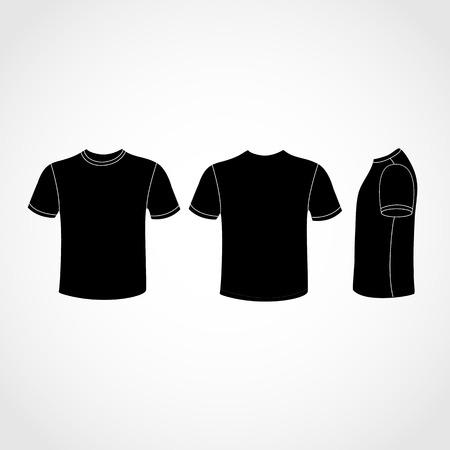 黒 t シャツのアイコンを任意の使用のために大きい。  イラスト・ベクター素材