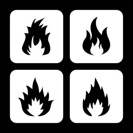 Fire icon great for any use. Vector