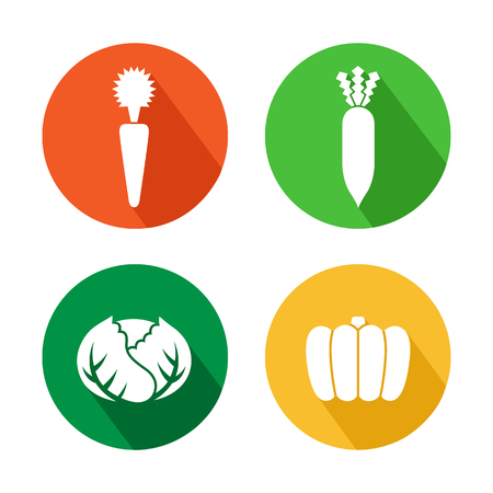 Set of vegetables icon great for any use