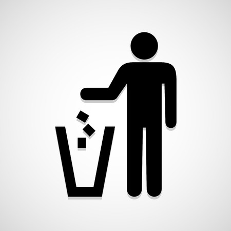 Do not litter icon great for any use.   Stock Illustratie