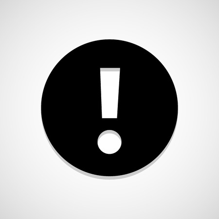 exclamation mark icon great for any use.  Vector