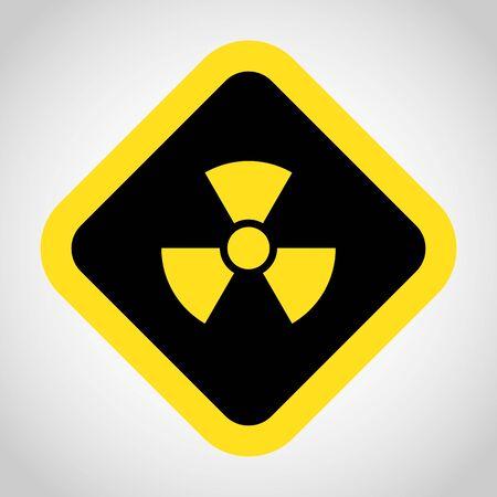 radioactivity: Radioactivity icon great for any use.    Illustration