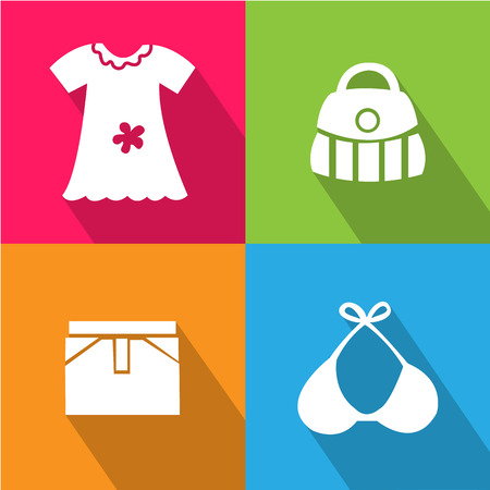 Girl Accessories icon great for any use.   Vector