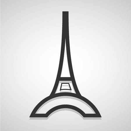 moulin: Eiffel Tower icon great for any use.   Illustration