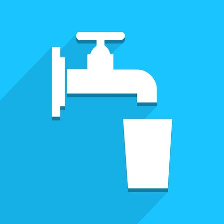 Faucet and glass icon, great for any use.   Vector