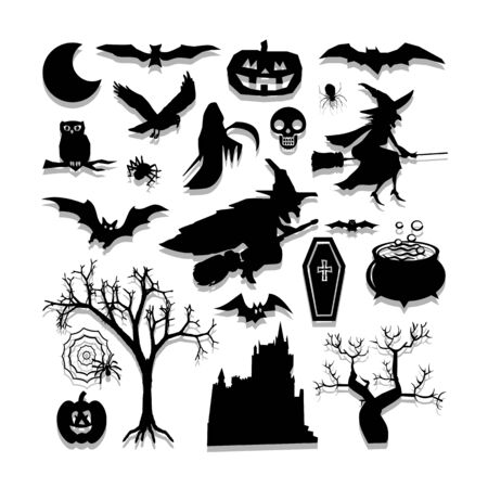 Halloween icons set great for any use.   Illustration