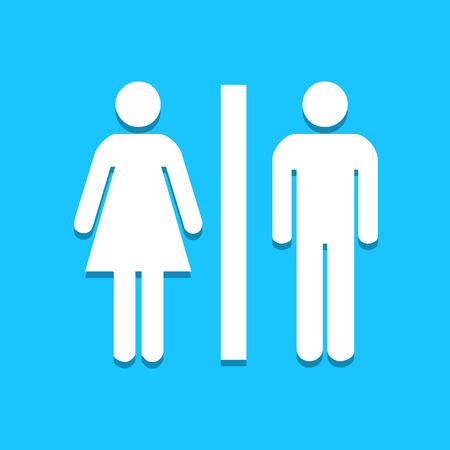 toilet door: Toilet icon great for any use.   Illustration
