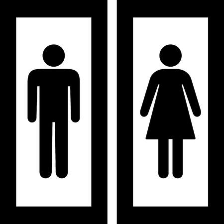 simbolo uomo donna: Icon WC grande per qualsiasi uso.