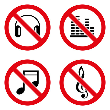 no background: No music icon great for any use. Vector EPS10.