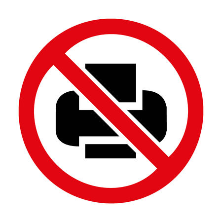 No Print sign icon great for any use. Vector EPS10. Vector