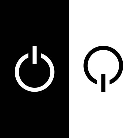 powe: Power on and powe off icon great for any use. Vector EPS10.
