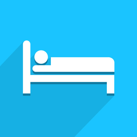 Bed icon great for any use. Vector EPS10.