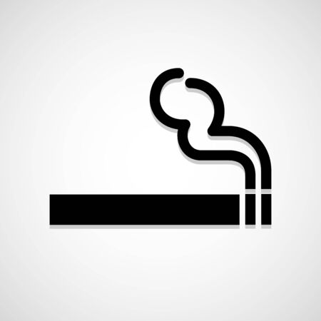 smoke icon great for any use. Vector EPS10.