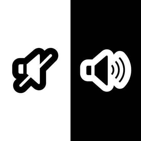 Sound and No sound icon great for any use. Vector EPS10. Vector