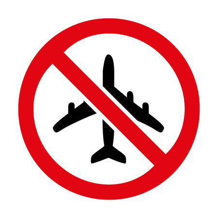 No flying No plane icon great for any use. Vector EPS10.