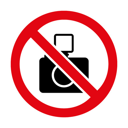 No photo camera icon great for any use. Vector EPS10. Vector