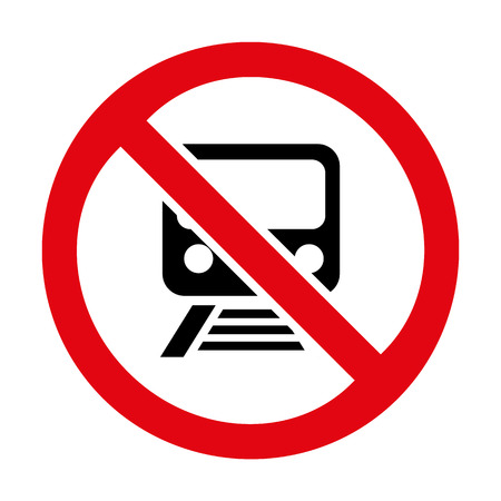 railroad crossing: No train sign icon great for any use. Vector EPS10. Illustration