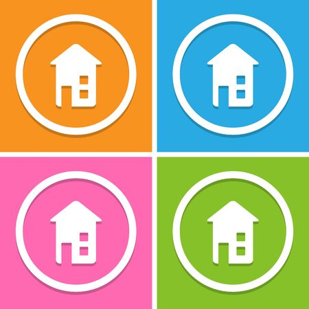 abode: home icons set