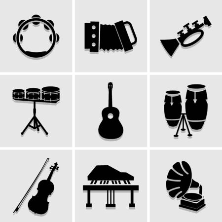 musicians icons great for any use. Illustration