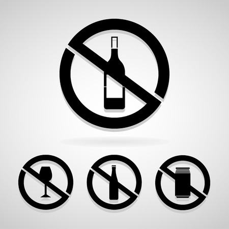 permitted: no drink icon great for any use.