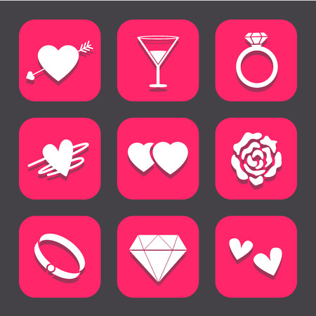 wedding icons set great for any use.