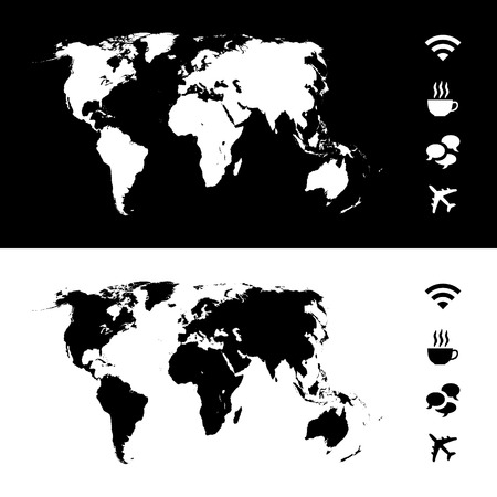 worldrn: World map icon great for any use.