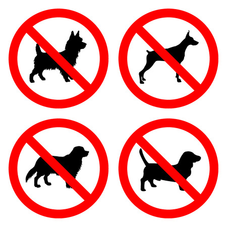 No Dog Sign icon great for any use.  Vector