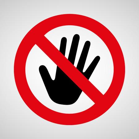 prohibido el paso: ning�n icono toque genial para cualquier uso.