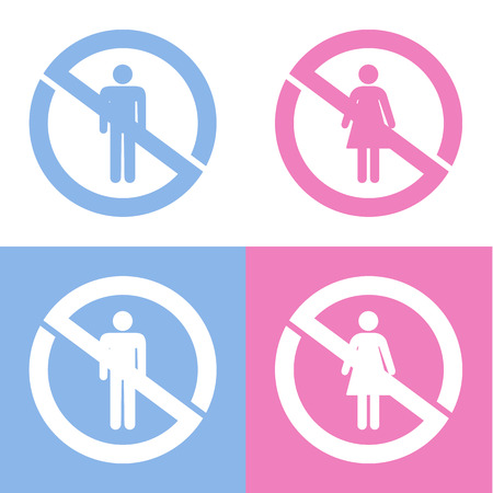 no sign icons set great for any use.  Vector