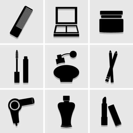 bathroom icon: bathroom icon set. great for any use Illustration