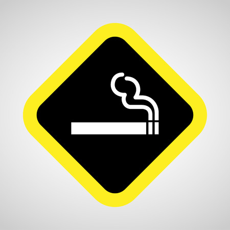 cigar shape: smoke icon great for any use. Illustration
