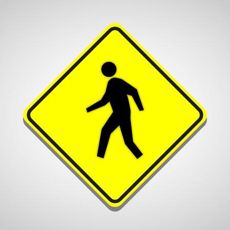 crosswalk: paso de peatones icono grande para cualquier uso.