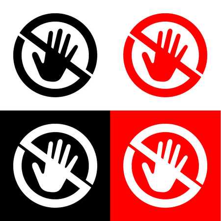 strikethrough: no touch icon great for any use. Vector EPS10. Illustration