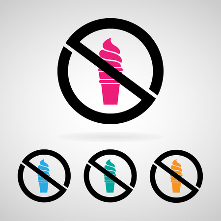 no icecream icon great for any use.  Vector