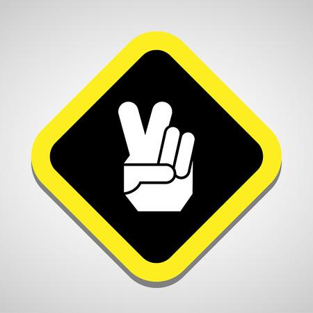 simbolo della pace: Icona vittoria grande per qualsiasi uso.