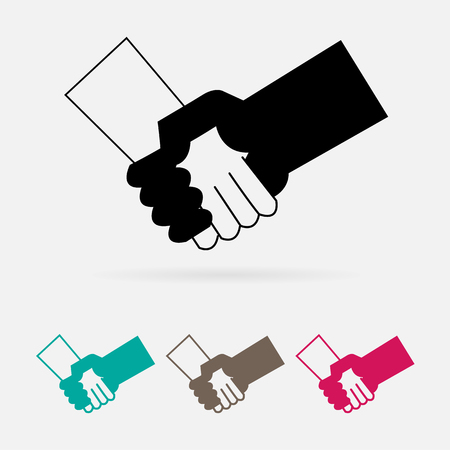 check hand icon great for any use. Vector EPS10.