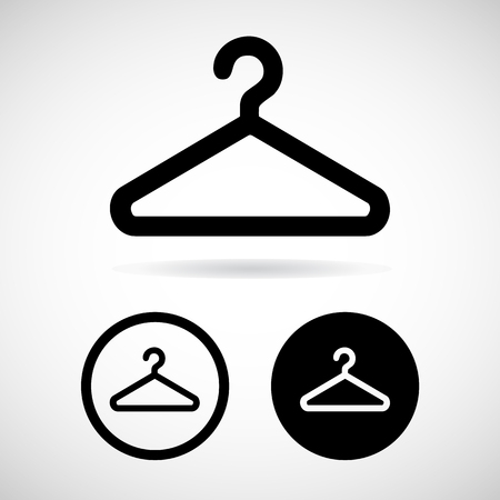 coat hanger: coat hanger icons set great for any use.